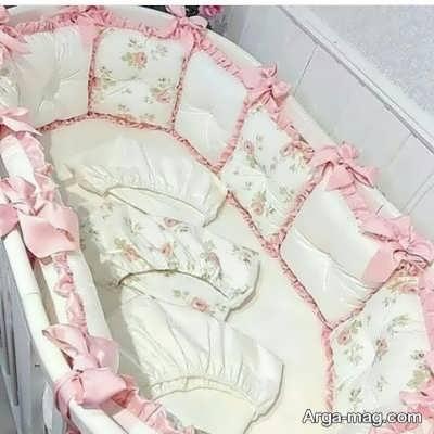 تزیین زیبا تخت نوزاد