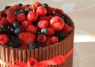 مدل تزیین کیک با میوه