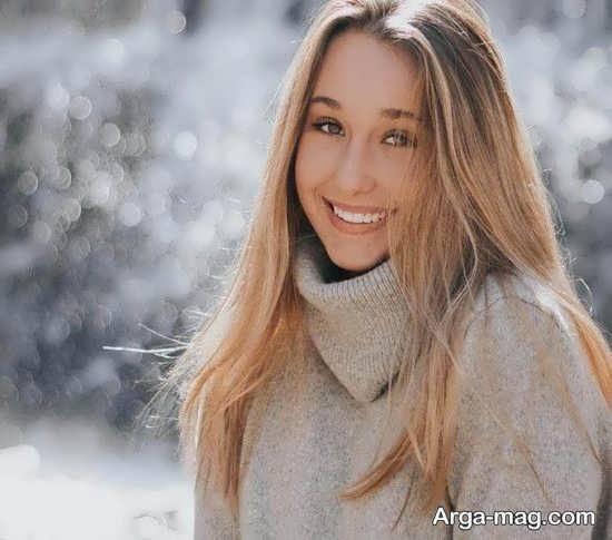 عکس جالب دخترانه در زمستان