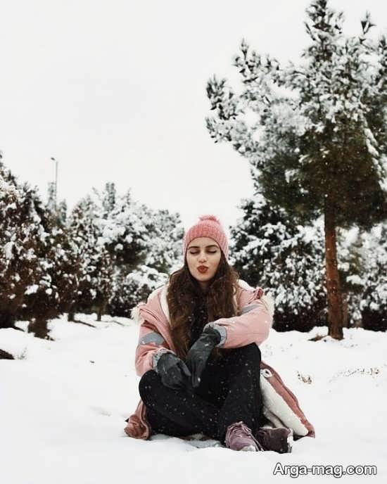 فیگور زیبا و شیک دخترانه برفی