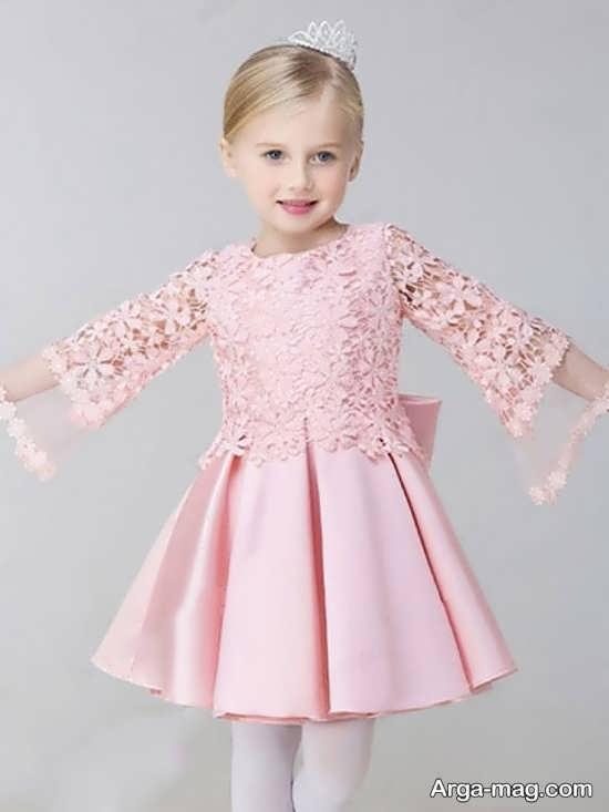 جدیدترین مدل لباس مجلسی صورتی