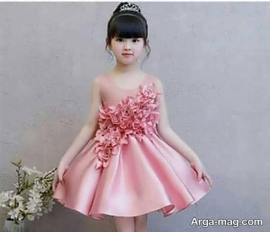 مدل لباس مجلسی صورتی شیک