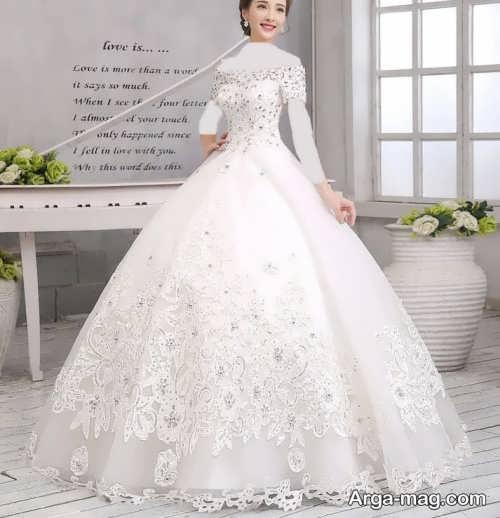 مدل لباس عروس کره ای پرنسسی