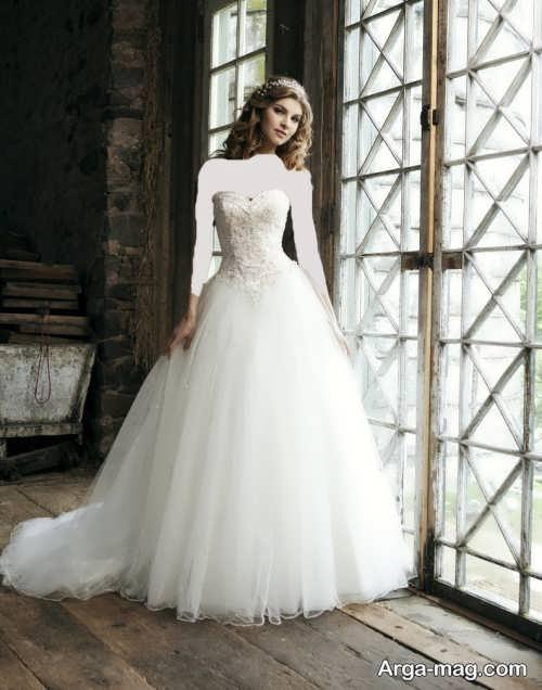 لباس عروس شیک و زیبا پرنسسی