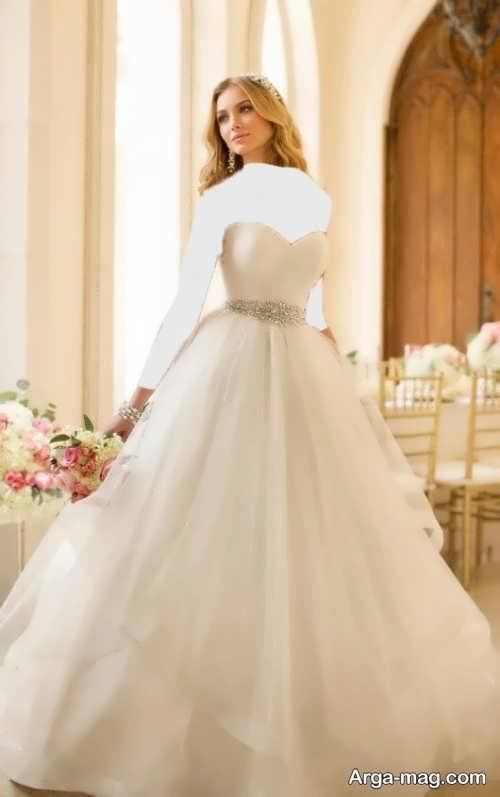 مدل لباس عروس دکلته و پرنسسی