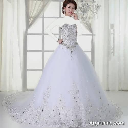 لباس عروس کار شده پرنسسی