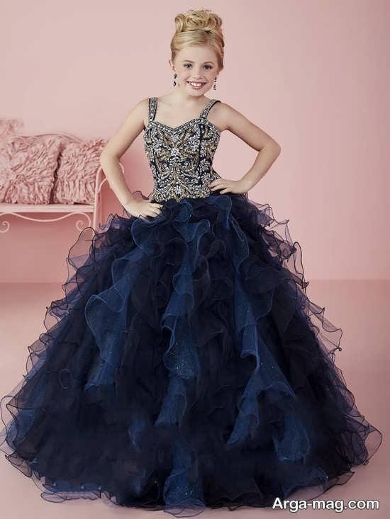 لباس مجلسی دخترانه بچه گانه