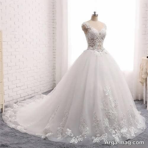 پیراهن عروس پرنسسی گیپور
