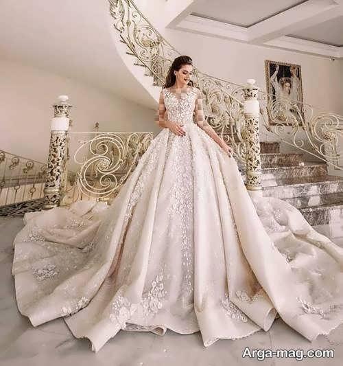 پیراهن عروس پرنسسی پفی