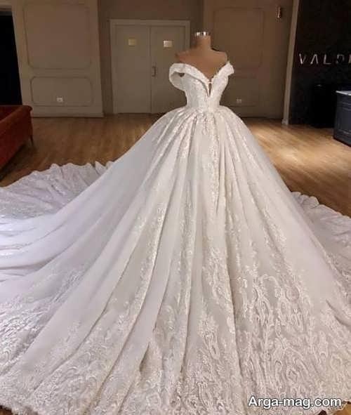لباس عروس پرنسسی پفی