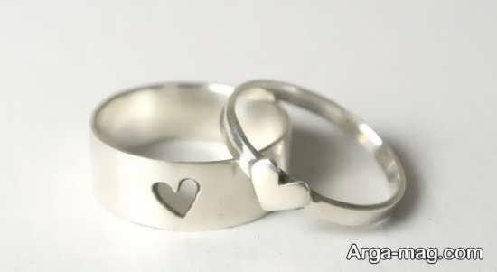 Ring is a silver pair 12 - مدل حلقه های ست نقره برای نامزدهای رمانتیک