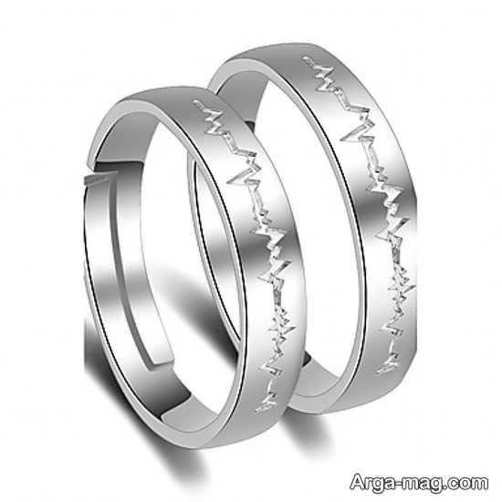 Ring is a silver pair 18 - مدل حلقه های ست نقره برای نامزدهای رمانتیک