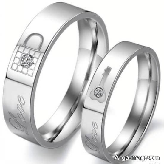 Ring is a silver pair 20 - مدل حلقه های ست نقره برای نامزدهای رمانتیک