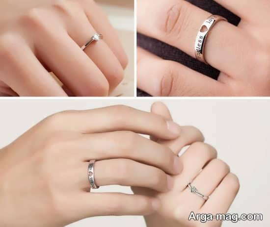 Ring is a silver pair 6 - مدل حلقه های ست نقره برای نامزدهای رمانتیک