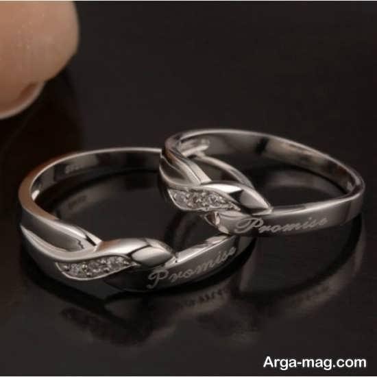 Ring is a silver pair 7 - مدل حلقه های ست نقره برای نامزدهای رمانتیک
