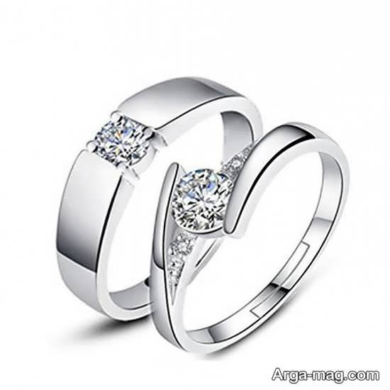 Ring is a silver pair 8 - مدل حلقه های ست نقره برای نامزدهای رمانتیک