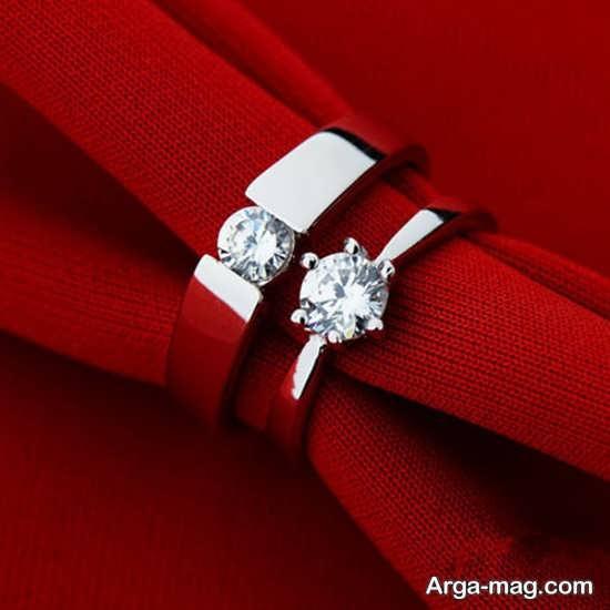 Ring is a silver pair 9 - مدل حلقه های ست نقره برای نامزدهای رمانتیک