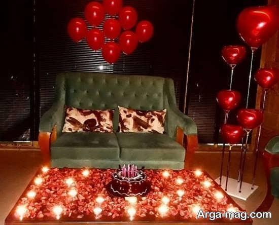 تزئیناتی زیبا و ساده برای جشن تولدی عاشقانه