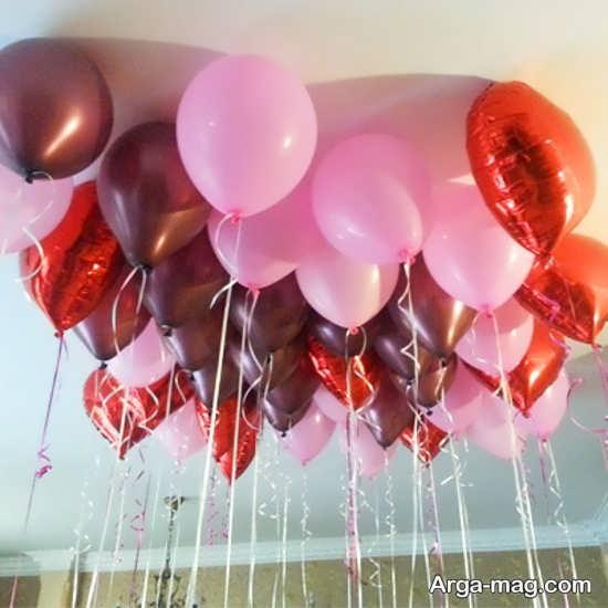 تزیین تولد عاشقانه با بادکنک آرایی