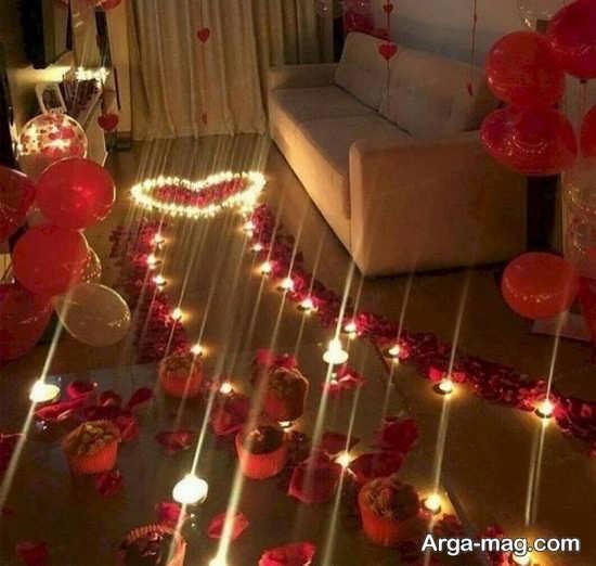 تزیین جشن تولد با تمی عاشقانه