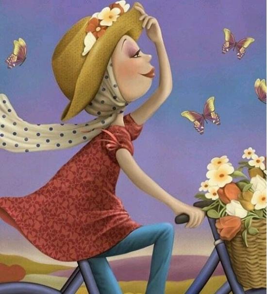 عکس پروفایل دخترانه شیک بادوچرخه