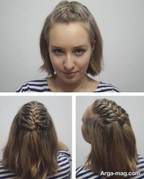 مدل زیبا و شیک بافت موی کوتاه
