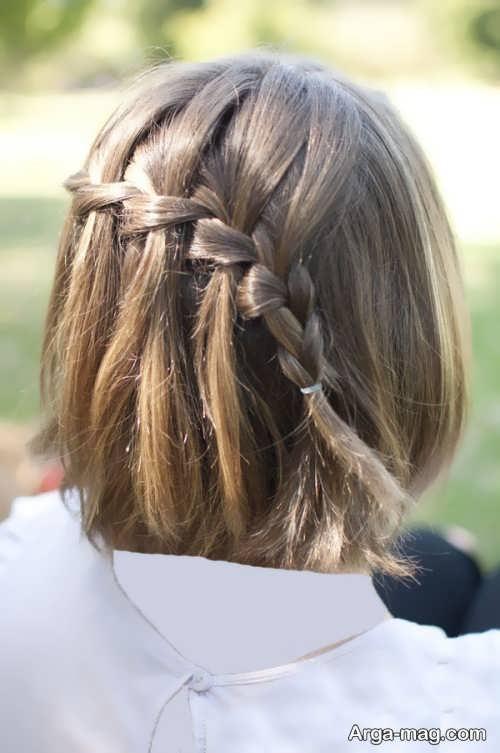 مدل بافت موهای کوتاه و ساده
