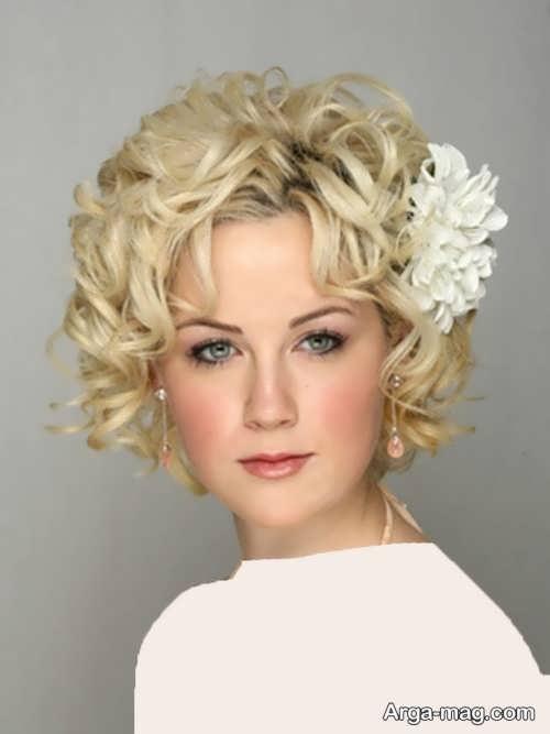 مدل موی زیبا و فر برای عروس