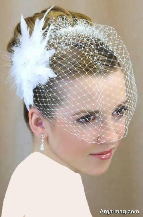 مدل مو ساده و متفاوت برای عروس
