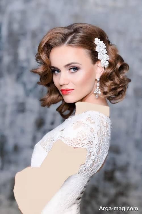 مدل موی فر کوتاه برای عروس