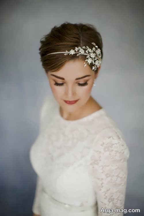 مدل مو کوتاه و جذاب برای عروس