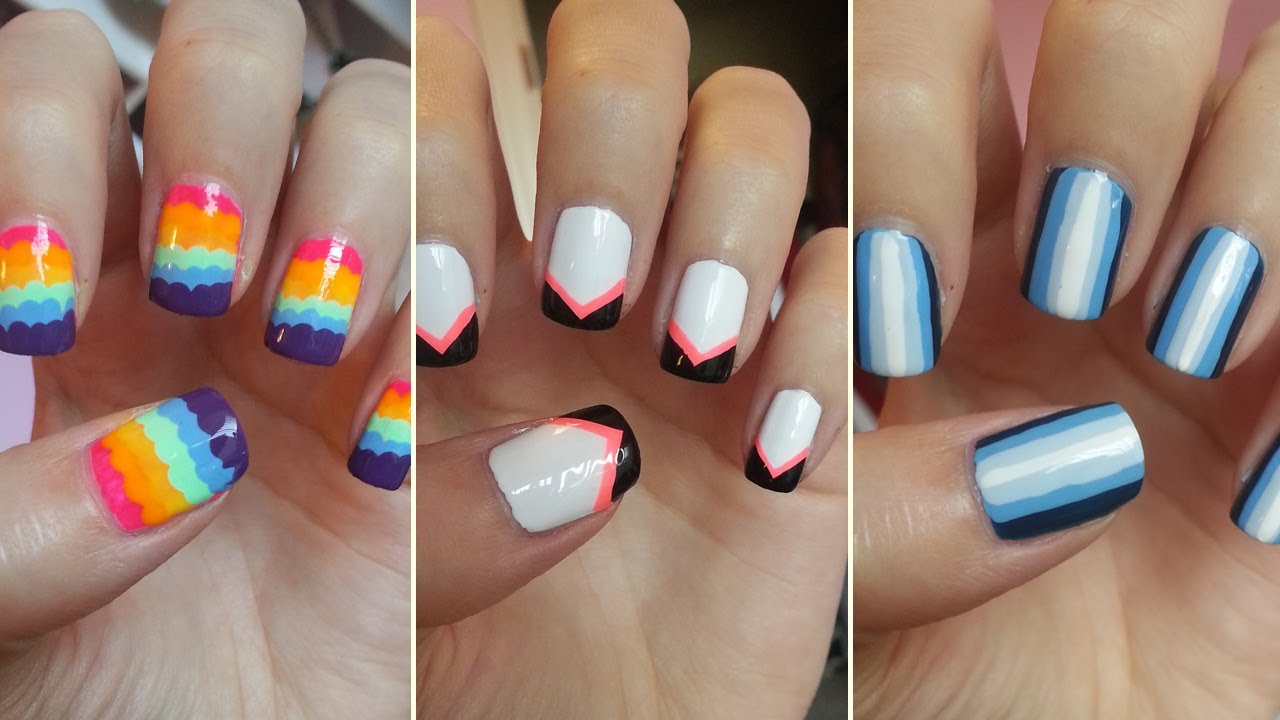 easy nail design toretoco - Easy Nail Designs For Short Nails At Home