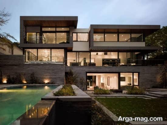 طراحی مدرن نمای ساختمان سنگی