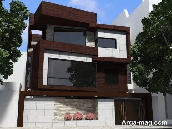 طراحی لاکچری و ایده آل سنگی نمای ساختمان