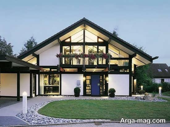 طراحی نمای شیشه و سنگ ساختمان