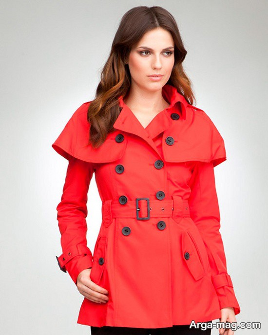 مدل بارانی ترکیه ای قرمز