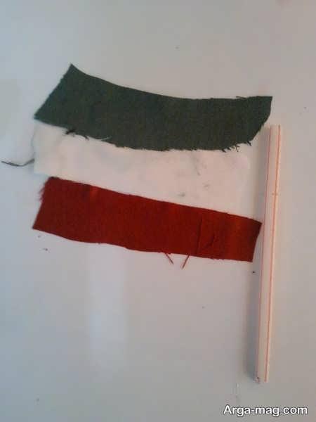 کاردستی پرچم با تکه های پارچه