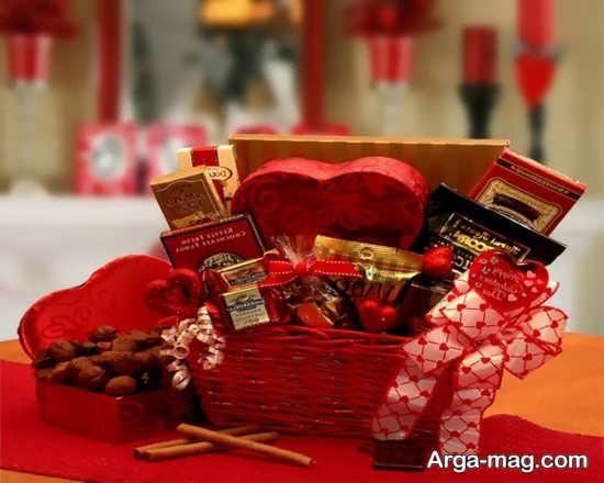 تزیین زیبای هدایای ولنتاین