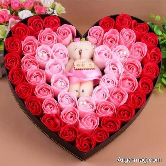 تزیین رمانتیک و زیبا هدیه ولنتاین