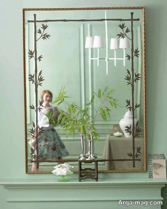 ساختن حاشیه با نقاشی برای آینه