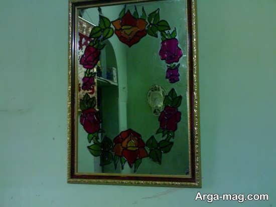 نقاشی و رنگ آمیزی روی آینه