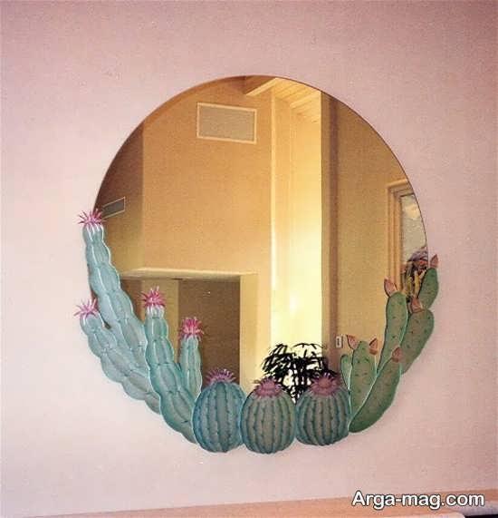 نقاشی برجسته روی آینه