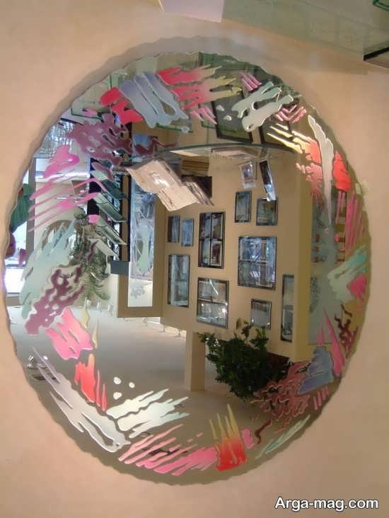 نقاشی روی آینه با آبرنگ