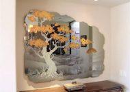 نقاشی روی آینه