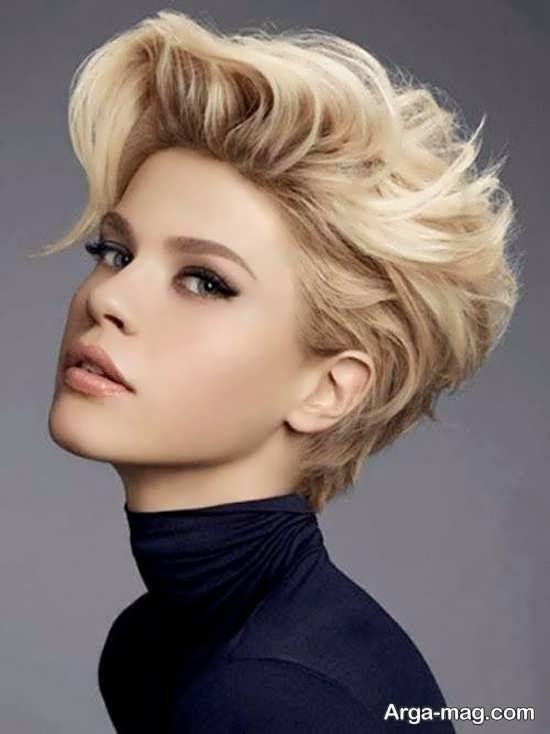 مدل مو کوتاه دخترانه برای موهای فر