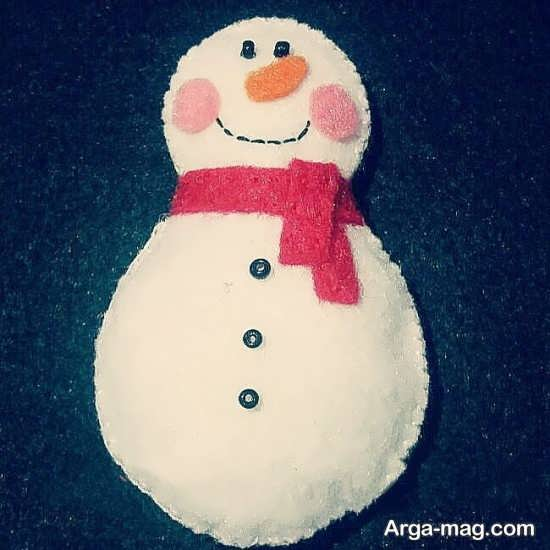 ساخت آدم برفی با نمد