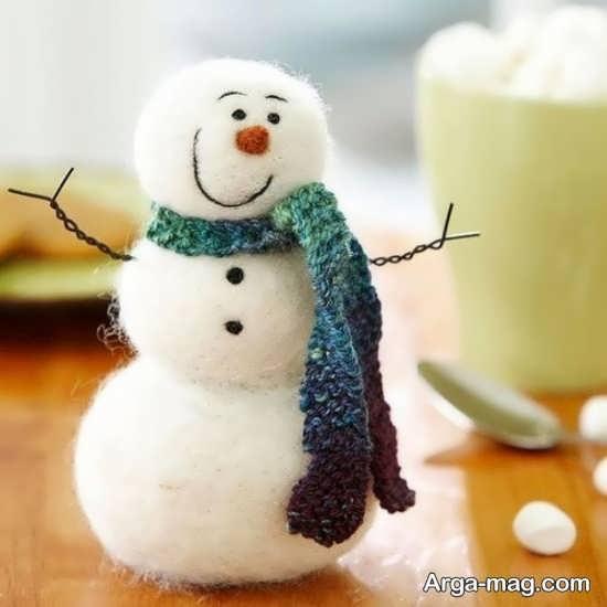 ساخت آدم برفی با پارچه مخصوص