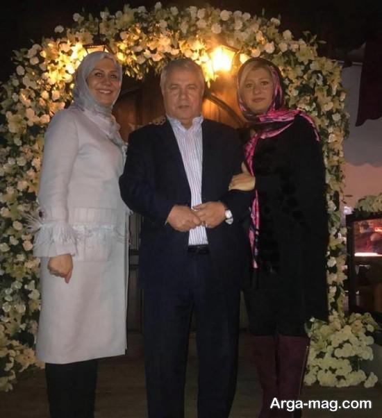 علی پروین و همسرش
