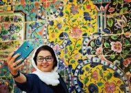 بازیگر دبیرستان خضراء در اجرای نمایش شیرهای خان بابا سلطنه