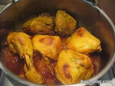 طرز تهیه مرغ باقالی پلو